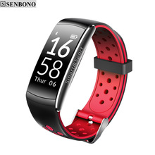 SENBONO Q8 Bluetooth IP68 Waterproof Smartband Heart Rate Monitor Smart Bracelet Fitness Tracker for Ios Android Phone