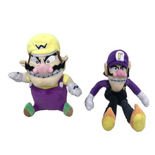 2017 Hot Sales 2Pcs/Set Super Mario Bros Plush Toy Doll Soft Stuffed Animal Wario Waluigi Plush Doll Toys(China)