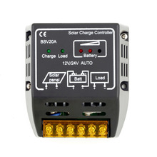 20A 12V/24V Solar Panel Charge Controller Battery Regulator Safe Protection for small solar energy system Drop Shipping(China)
