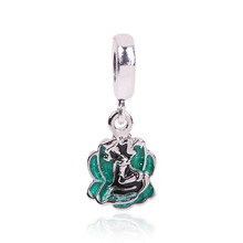 Green Seashell Ariel Mermaid Pendant Charm Beads For Jewelry Making 925 Silver Jewelry Fit Pandora Bracelet DIY Accessories