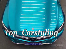 Sky Blue Glossy Metallic Car Wrap VINYL Styling With Air Free Whole car Covering Graphics foil PROTWRAPS 1.52x20m/Roll 5x67ft(China)