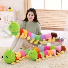80cm size colorful caterpillar plush toy doll car doll birthday gift Car travel accompany baby best gifts(China)
