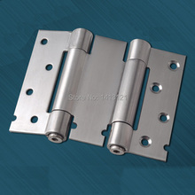 free shipping 4 inch stainless steel door hinge door hardware part Inside and outside two-way spring hinge(China)