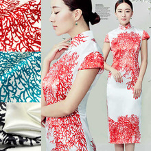 NEW Free shipping colorful coral 100% mulberry silk fabric charmuse silk material print plain scarf dress bedding set SCFAP09