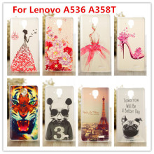 Luxury Crystal Diamond 3D case for Lenovo A536 A358T /Bling Shine Hard Protector Case Cover For Lenovo A358T cases(China)