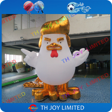 Buy 10 days free shipping! 2m-4m high advertising inflatable Donald Trump rooster, inflatable cock, inflatable Trump Chicken Mascot for $250.00 in AliExpress store