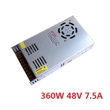 free shipping 360W 48V 7.5A Switching Power Supply Driver for CCTV camera LED Strip AC 100-240V Input to DC 48V output(China)