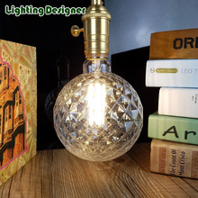 G125 Crystal led edison bulb light amber retro saving lamp vintage filament bulb Edison ampul lamp E27 led lighting warm white4W