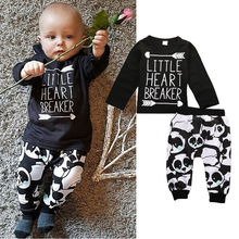 0-24M Newborn Infant Baby Clothes Little Boys Girls T-shirt Top+Pant 2pcs Outfits Bebes Autumn Clothing Set(China)