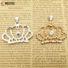 2pcs  Mobile phone manufacturers selling  diamond crown shell DIY alloy crown hair accessories  handmade material