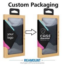 200 pcs Wholesale Custom LOGO  High Class Kraft Paper Packaging For Phone Cover For iPhone 7 7 plus With Stickers & Inner Trays