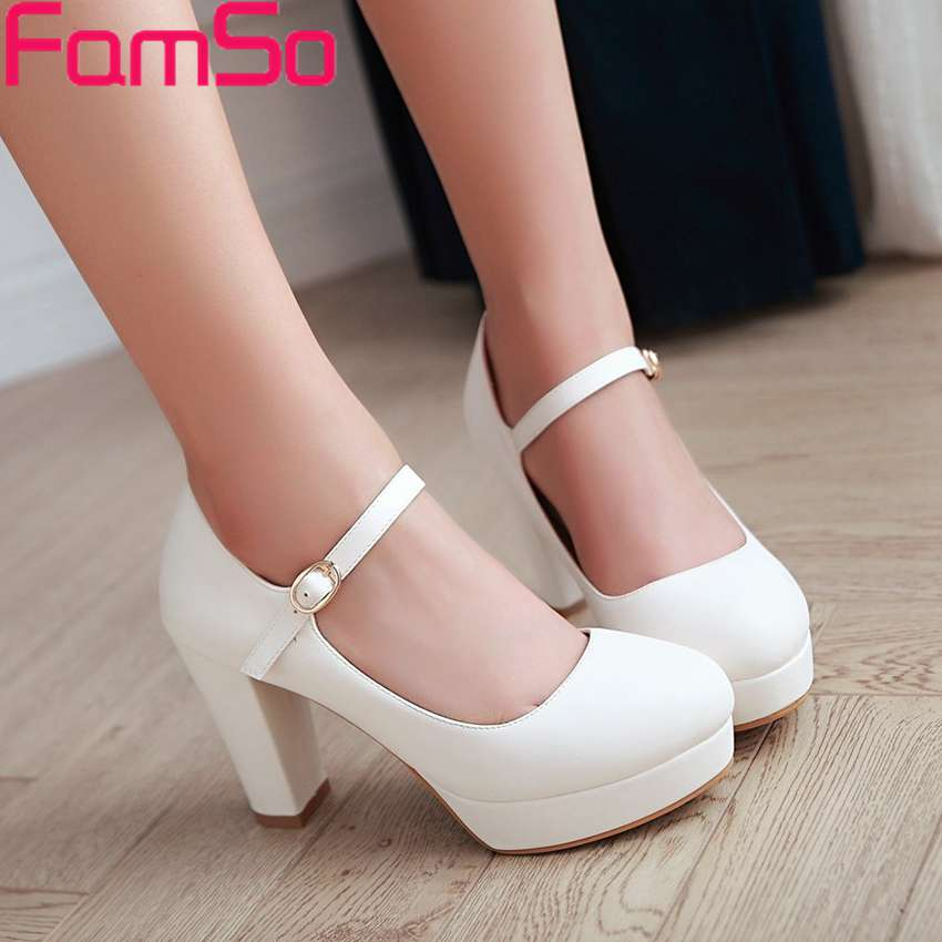 Plus Size34-43 2017 New Classics Style Womens Boots Black Round toe Shoes Platforms Shoes Spring Autumn Platforms Pumps PS2656<br><br>Aliexpress