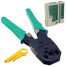 Hot Sale Multifuction RJ45 RJ11 RJ12 CAT5 LAN Network Cable Tester Crimper Wire Stripper Plier Network Test Tool Kit(China)