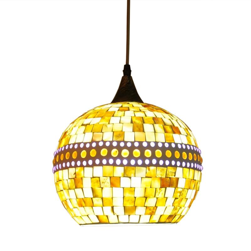 Bohemia modern creative southeast Mediterranean Restaurant corridor balcony chandelier mosaic mirror lamp chandelier<br><br>Aliexpress