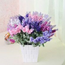 New arrived Artificial Lavender as natural as though it were living Silk Flower for Bouquets Wedding Home Party Decor 1 Bouquet