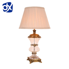 Modern Crystal Bedroom Table Lamp Fabric Lampshade Living Room Decoration Abajur Table lamp For Bedroom Lamparas De Mesa
