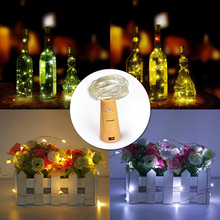 2m 20-LED Copper Wire String Light with Bottle Stopper for Glass Craft Bottle Fairy Valentines Wedding Decoration Lamp Party(China)