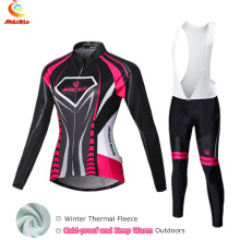 Buy Malciklo 2017 Cycling Jersey Women Keep Warm Long Sleeve Set Ropa Ciclismo Invierno Skinsuit Bike Wear Winter Thermal Clothing for $38.00 in AliExpress store