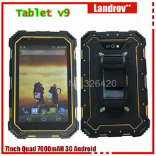 ORIGINAL 7.0 Inch Tablet PC V9, IP68 Waterproof GSM/ WCDMA 7000mAH MTK6582 Quad core 3G Android4.4 tablet PC T07