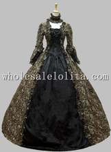 Georgian Victorian Gothic Period Dress Prom Gown Wedding Reenactment Dress