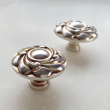30mm antique silver drawer shoe cabinet bedside table dresser kitchen cabinet furniture door knobs pulls handles(China)