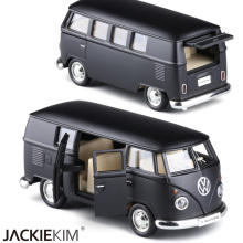 Boxed alloy car models vw bus scrub dull car model toys(China)