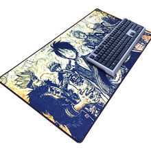 Cartoon series table mouse pad with 800x300mm large size and edge locking for internet game and office use