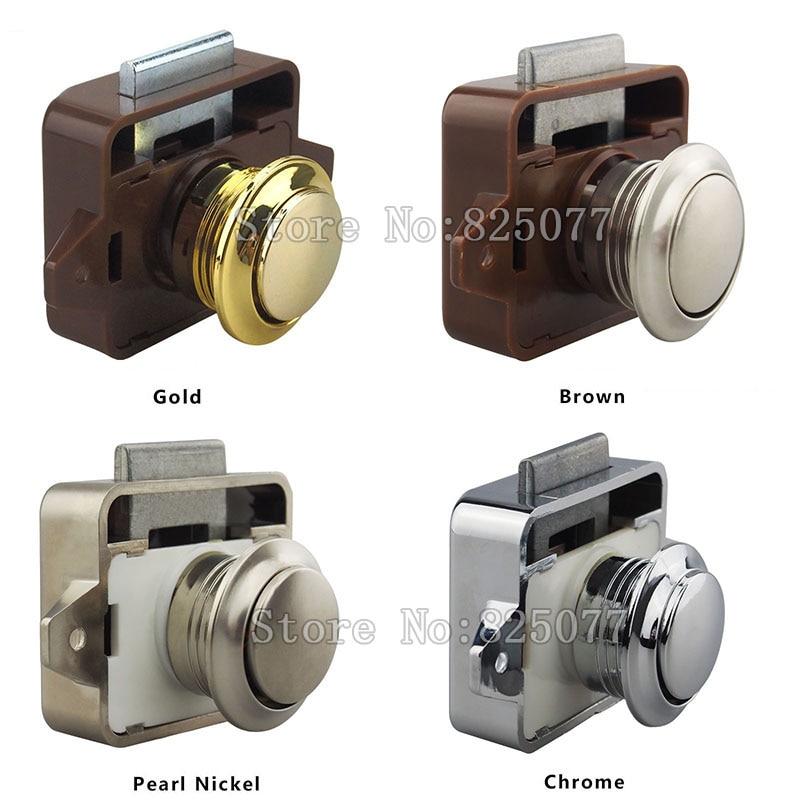 40PCS/Lot DHL ABS Push Lock Button Catch Lock Cupboard Door Knob Camper  Caravan Motorhome