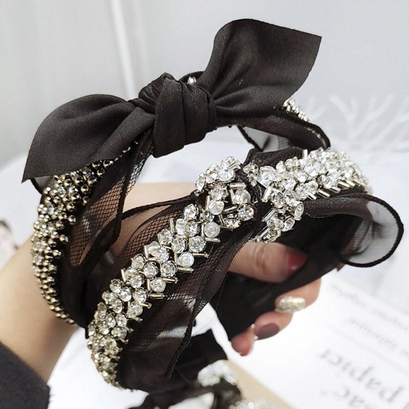 Femme Fleur Cristal Bandeau Serre-tête Strass Cheveux Bandes Cerceau Accessoires