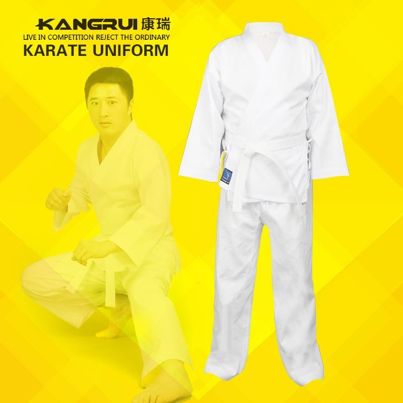 Дешевые хорошее качество ребенок взрослый каратэ равномерное костюм WTF Таэквондо kick boxing MMA боевые искусства одежда добок хлопок(China)