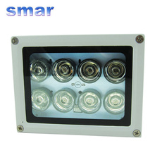 100% Brand New 40-80m Night vision 8 LED Array IR Infrared Illuminator Lamp  illuminating For CCTV Camera