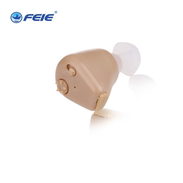 Top Quality Ear Hearing Aid New Rechargeable ITE Portable Earphone In The Canal for Deaf S-216 aides auditives Free Shipping<br>