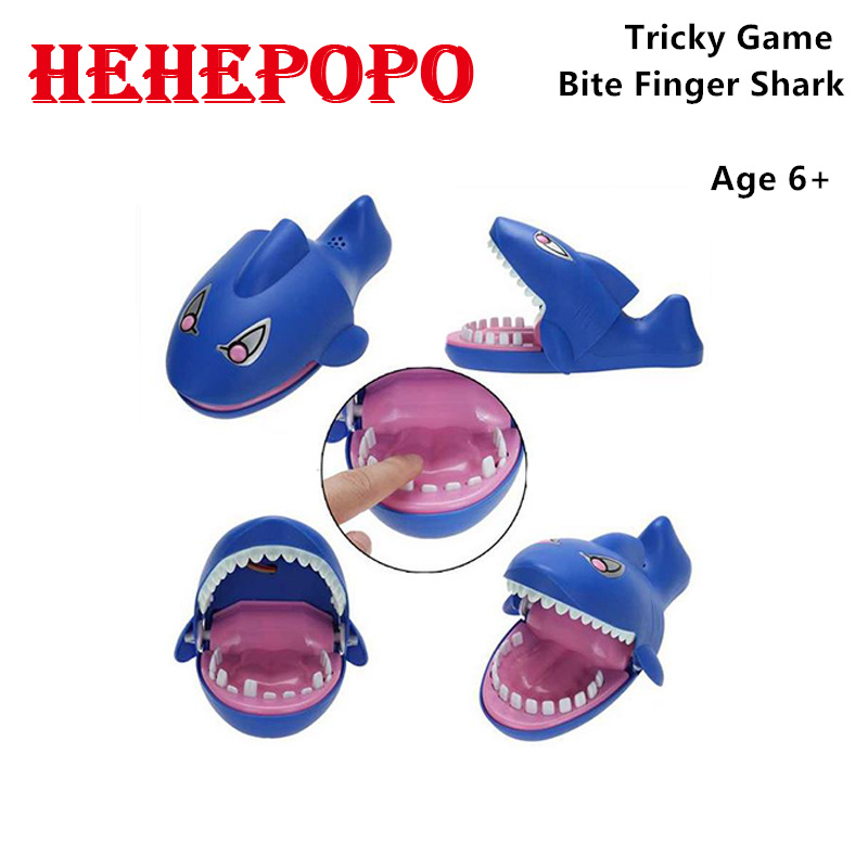 2017 New Tricky Toys Blue Shark Bite Finger Sea Animals Funny Gadgets Jokes Mouth Dentist Children's Model Baby Kids' Gift(China (Mainland))