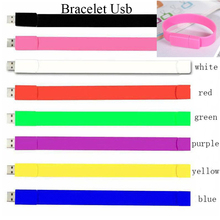100% real capacity Silicone Bracelet Wrist Band 16GB 16GB 8GB 4GB USB 2.0 USB Flash Drive Pen Drive Stick U Disk Pendrives(China)