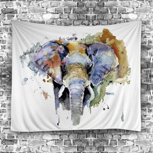 2017 Elephant Mandala Tapestry Antlers Wall Hanging Beach Table Cloth Polyester Hippie Blanket Home Decoration