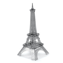 Eiffel Tower 3D Metal Puzzle DIY Assembly Kids Toys Educational Toys Magnetic Tangram Jigsaw Puzzles For Adult/Children