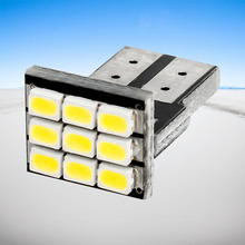 10pcs T10 9 smd 1206 led auto Parking Lights W5W Car Wedge Dashboard Indicator Instrument Wedge Light reading lamp white 12V(China)