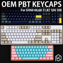pbt Front Printed PBT Keycaps oem profile Laser Etched Front Printed Legends top printed white grey black red blue red pink