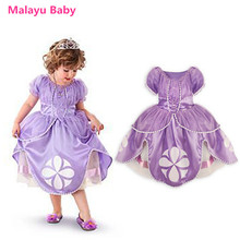 Malayu Baby Christmas dress, wholesale price clearance processing, Sofia princess dress, girls summer cartoon short sleeve dress