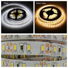 High Brightness SMD 3014 Led Strip 5M 120Led/m 600 Leds flexible light DC12V Non Waterproof White/Warm White Led Lamps Lighting
