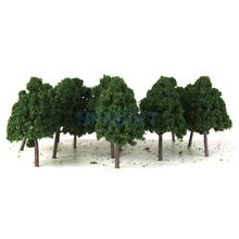 20pcs Plastic Model Trees N Scale Train Layout Wargame Scenery Diorama 9.5cm(China)