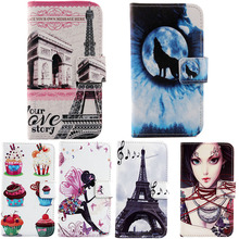 Fashion Drawing Design Cartoon Stand For Nokia Lumia 735 Flip Cover Skin Pouch 1X Book Style PU Leather Case Phone Case