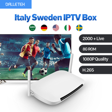 Best Italy Sweden IPTV Box Android Smart TV Set Top Box H.265 1 Year Free HD IUDTV Subscription Channels French Arabic Spain(China)
