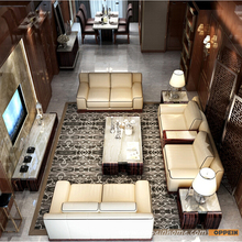 Leather sofa product in China of furniture factory Oppein Italy classic sofa office sofa OS-0114020