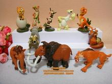 Free Shipping Ice Age Ellie Diego Sid PVC Action Figures Toys Dolls 10pcs/set Christmas Gifts