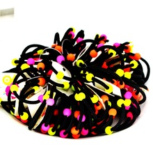 isnice Headwear 50pcs/lot Dia 30mm korean Rainbow Color Gum For Hair Rubber bands Small cute hair accessories gum girl ornaments