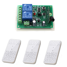 Good Design 2CH Radio Frequency RF Wireless Remote Control Switch System Receiver Board & 3pcs White Transmitter with AB Buttons