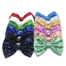 "300pcs/lot 7""Super Big Messy Sequin Bows for Headband,Hair Bow WITHOUT Hair Clips,Hair Band Hair Accessories DHL free"