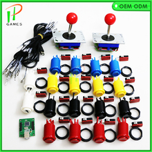DIY Arcade parts Bundles kit for 2 players Jamma USB control board to PC PS3 4/8 way zippy Joystick,Happy style Push button