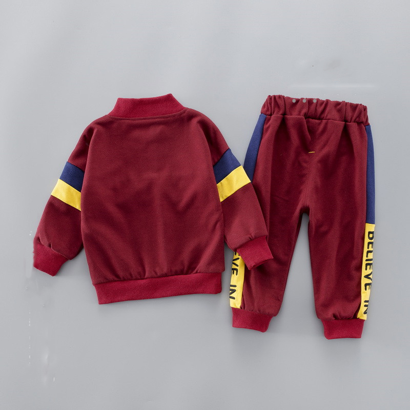 2019 Spring Boys ' Sets Letter Pullover Sportswear Children's Clothing Wholesale